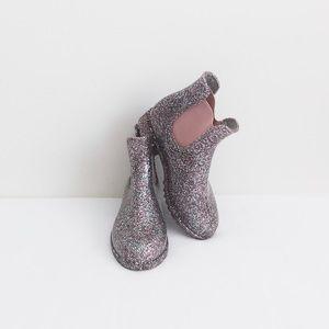 Old Navy toddler glitter rain boots